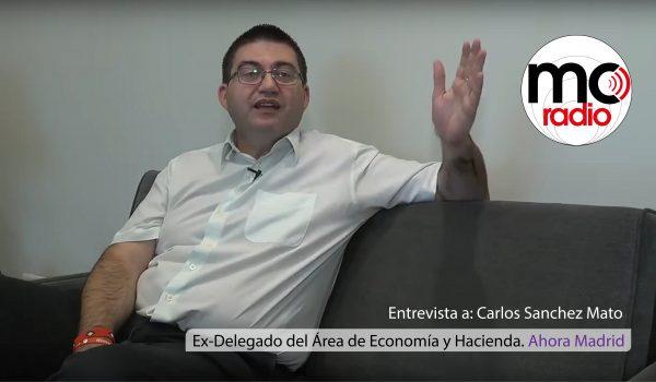 Cesado el concejal Carlos Sánchez Mato, hasta ahora responsable de Economía Hacienda