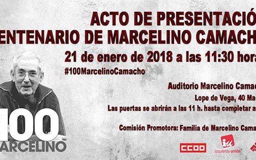 Presentación del centenario de Marcelino Camacho por Enrique Santiago