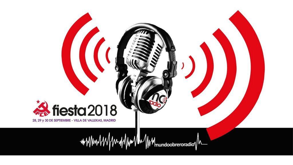 Mundo Obrero Radio en Fiesta PCE 2018