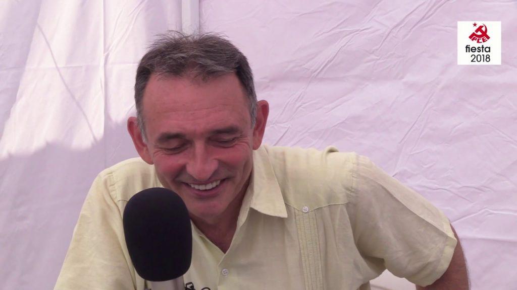 Entrevista a Enrique Santiago en La Fiesta del PCE 2018