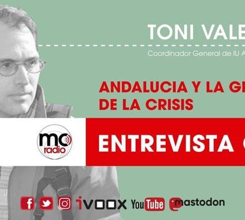 Entrevista a Toni Valero coordinador de IU Andalucía